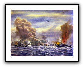 Minesweeper before Corregidor  - Dwight Shepler - US Navy Collection